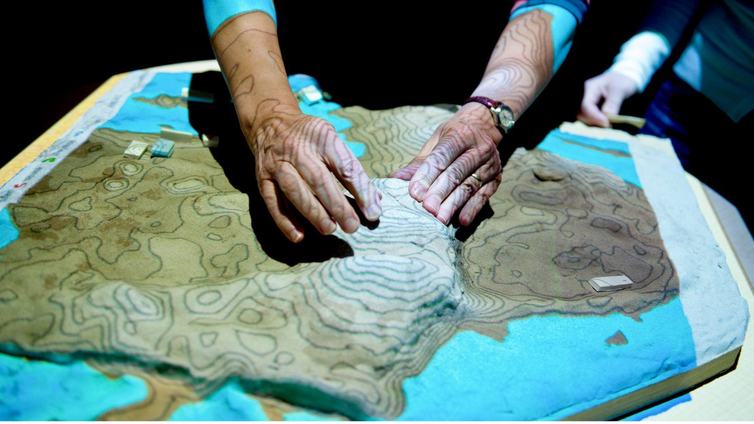 high-tech topographical map